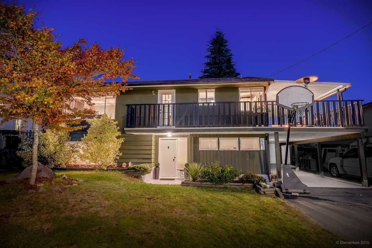 Main Photo: 663 NEWPORT STREET in Coquitlam: Central Coquitlam House for sale : MLS®# R2012490
