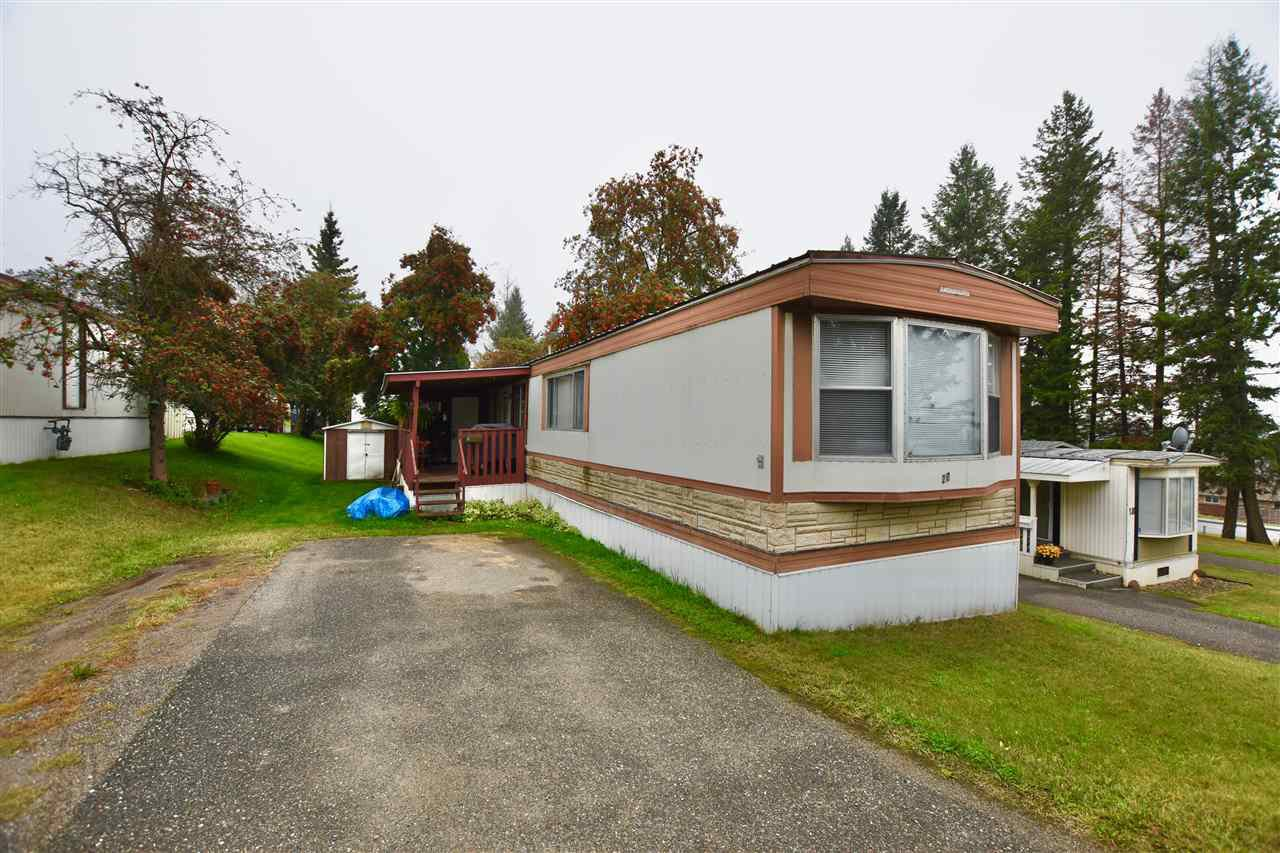 "Main Photo: 20 770 N 11TH Avenue in Williams Lake: Williams Lake - City Manufactured Home for sale in ""FRAN LEE TRAILER PARK"" (Williams Lake (Zone 27))  : MLS®# R2501605"
