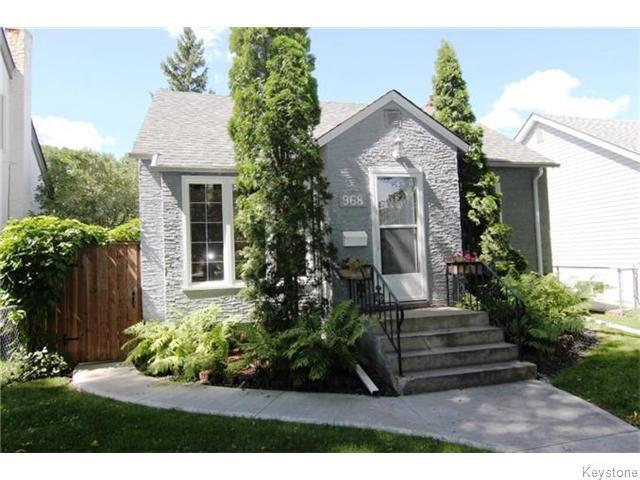 Main Photo: 968 Ashburn Street in Winnipeg: Polo Park Residential for sale (West End)  : MLS®# 1522895
