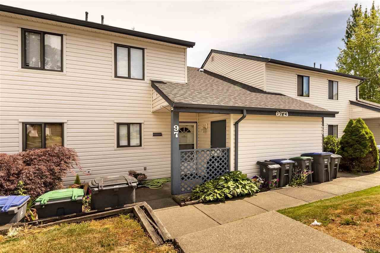 """Main Photo: 97 6673 138 Street in Surrey: East Newton Townhouse for sale in """"HYLAND CREEK"""" : MLS®# R2434304"""