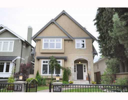 Main Photo: 4067 W 18TH AVENUE in : Dunbar House for sale : MLS®# V788202