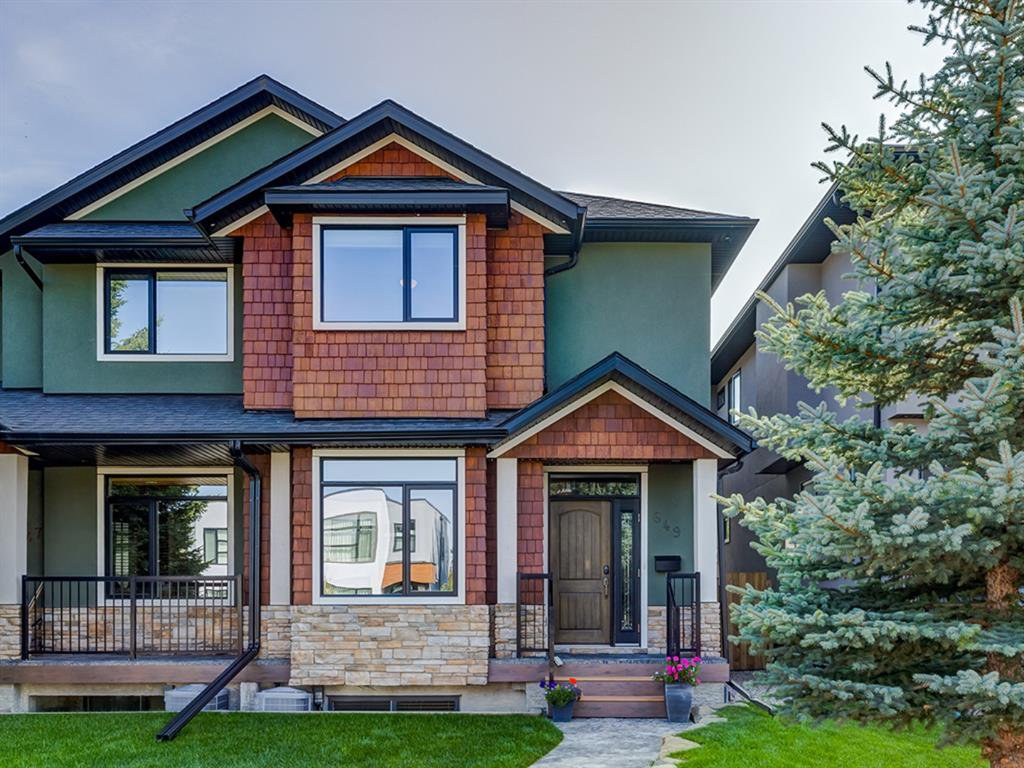 Main Photo: 649 26 Avenue NW in Calgary: Mount Pleasant Semi Detached for sale : MLS®# A1034757