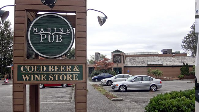 Main Photo: MARINE PUB AND LIQUOR STORE:5820 MARINE DRIVE in BURNABY: Commercial for sale (Burnaby South)