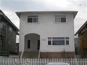 Main Photo: 1576 E 8th ave in vancouver: Grandview VE House for sale (Vancouver East)  : MLS®# v926395