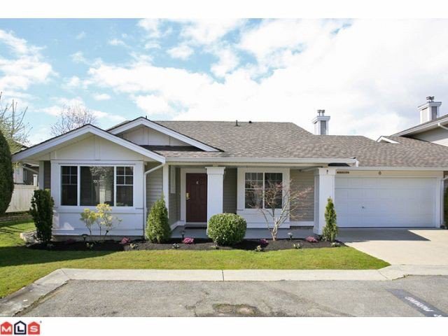Main Photo: 6 6885 184TH Street in Surrey: Cloverdale BC Townhouse for sale (Cloverdale)  : MLS®# F1208414