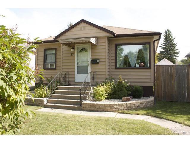 Photo 1: Photos: 271 Marjorie Street in WINNIPEG: St James Residential for sale (West Winnipeg)  : MLS®# 1321158