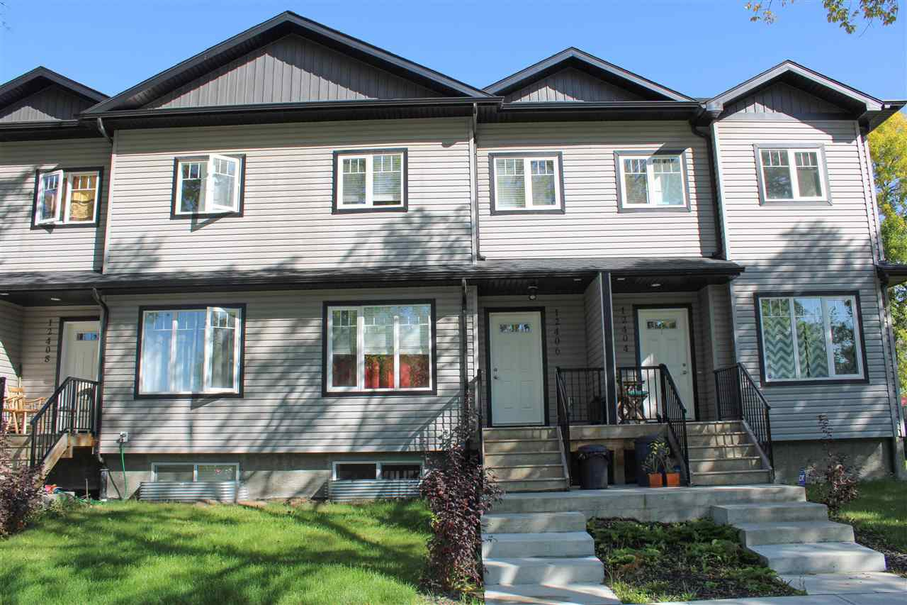 Main Photo: 12406 122 Avenue NW in Edmonton: Zone 04 Townhouse for sale : MLS®# E4172930