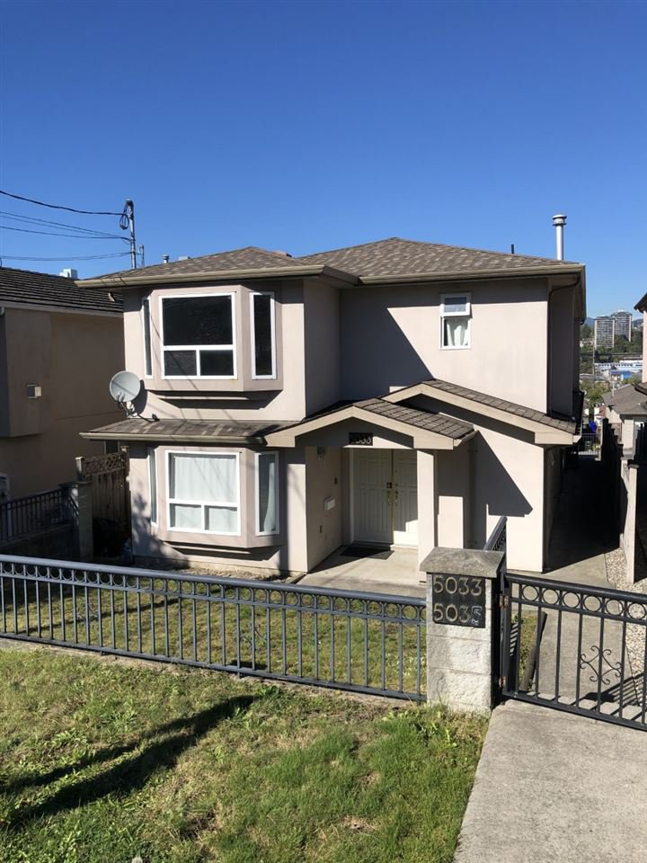 Main Photo: 5033 DOMINION Street in Burnaby: Central BN 1/2 Duplex for sale (Burnaby North)  : MLS®# R2503813
