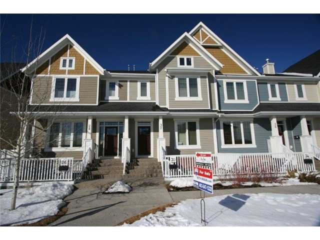 Main Photo: 32 MIKE RALPH Way SW in CALGARY: Garrison Green Townhouse for sale (Calgary)  : MLS®# C3557890