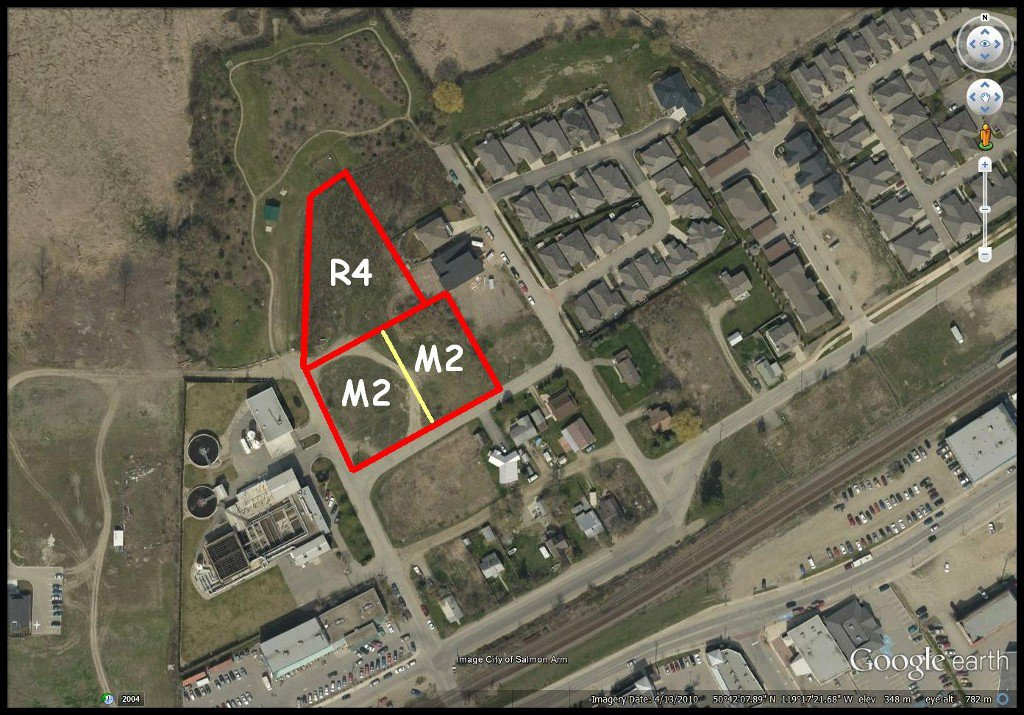 Main Photo: 350-390 Northwest Fraser Avenue in Salmon Arm: Harbourfront District Vacant Land for sale (NW Salmon Arm)  : MLS®# 10116559