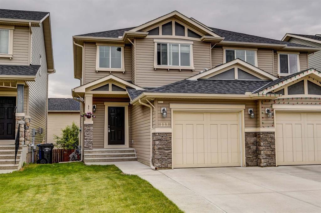 Main Photo: 113 BRIGHTONCREST Grove SE in Calgary: New Brighton Semi Detached for sale : MLS®# A1017017