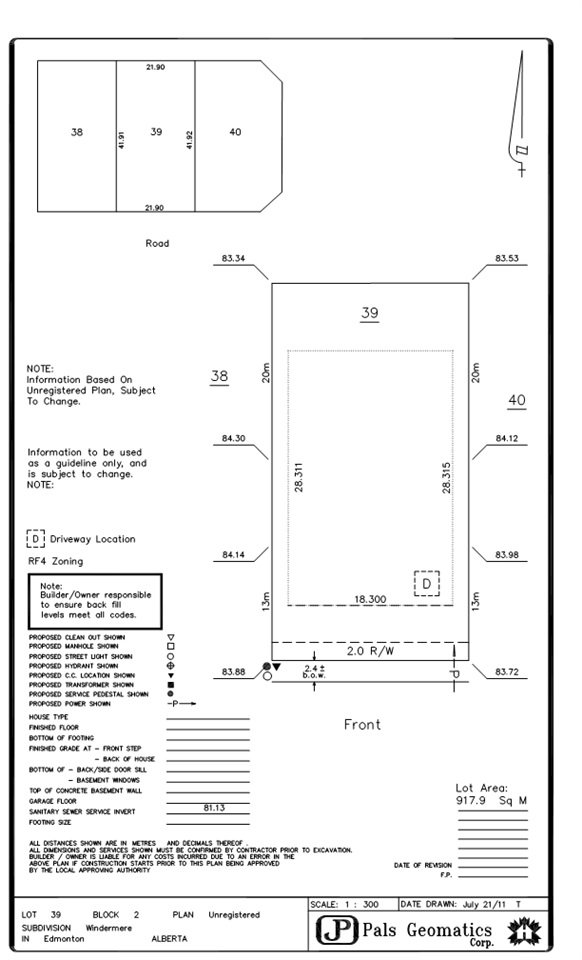 Main Photo: 3006 WATSON Landing in Edmonton: Zone 56 Vacant Lot for sale : MLS®# E4165752