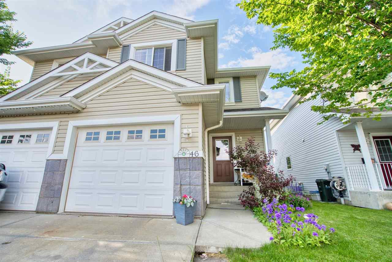 Main Photo: 46 115 Chestermere Drive: Sherwood Park House Half Duplex for sale : MLS®# E4165900