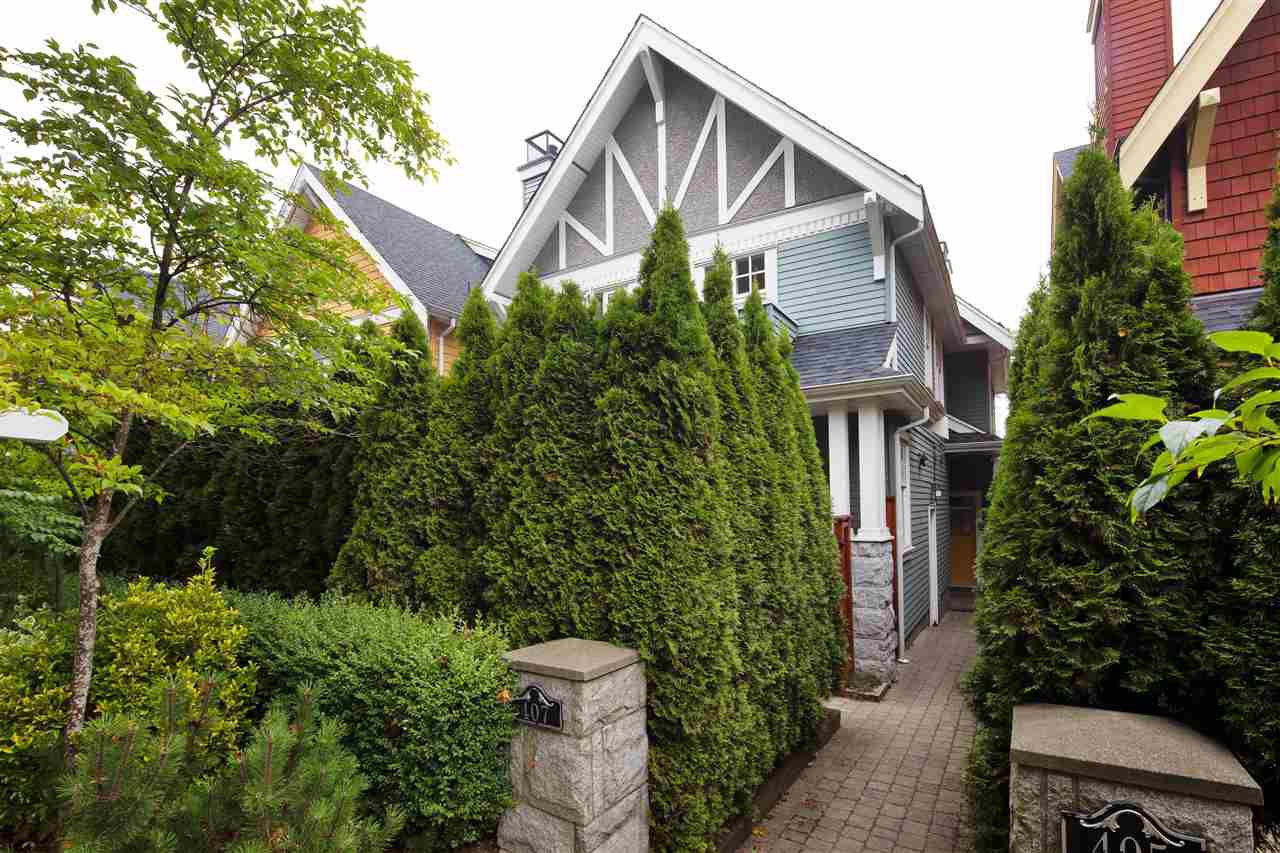 """Main Photo: 407 W 16TH Avenue in Vancouver: Mount Pleasant VW 1/2 Duplex for sale in """"Heritage at Cambie Village"""" (Vancouver West)  : MLS®# R2500188"""