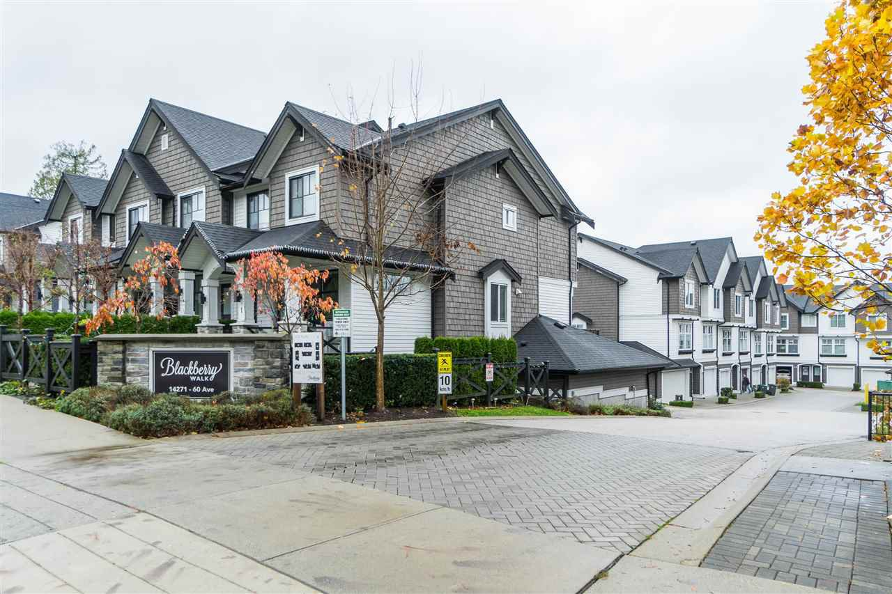 "Main Photo: 32 14271 60 Avenue in Surrey: Sullivan Station Townhouse for sale in ""BLACKBERRY WALK"" : MLS®# R2518056"