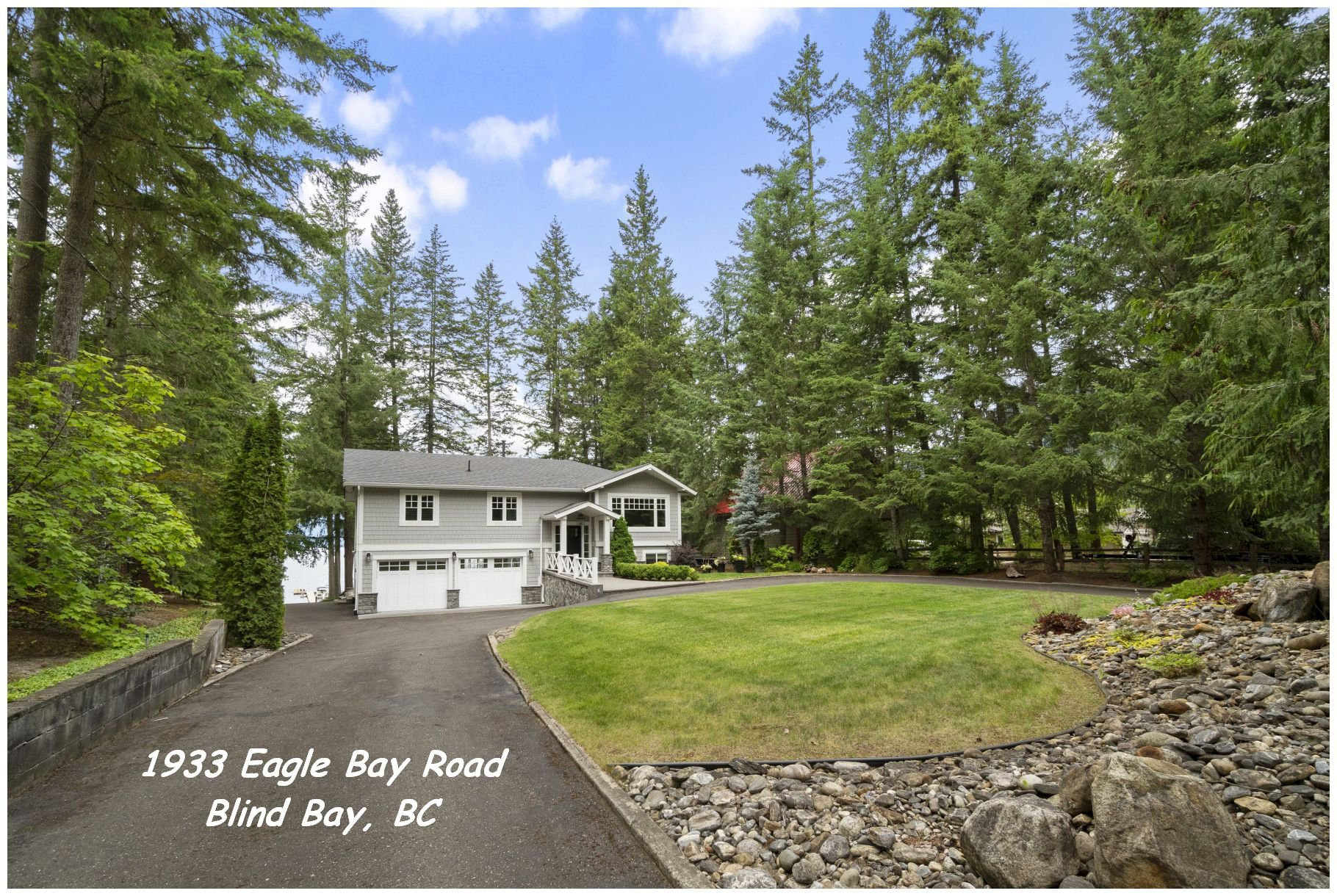 Main Photo: 1933 Eagle Bay Road: Blind Bay House for sale (Shuswap Lake)  : MLS®# 10187036