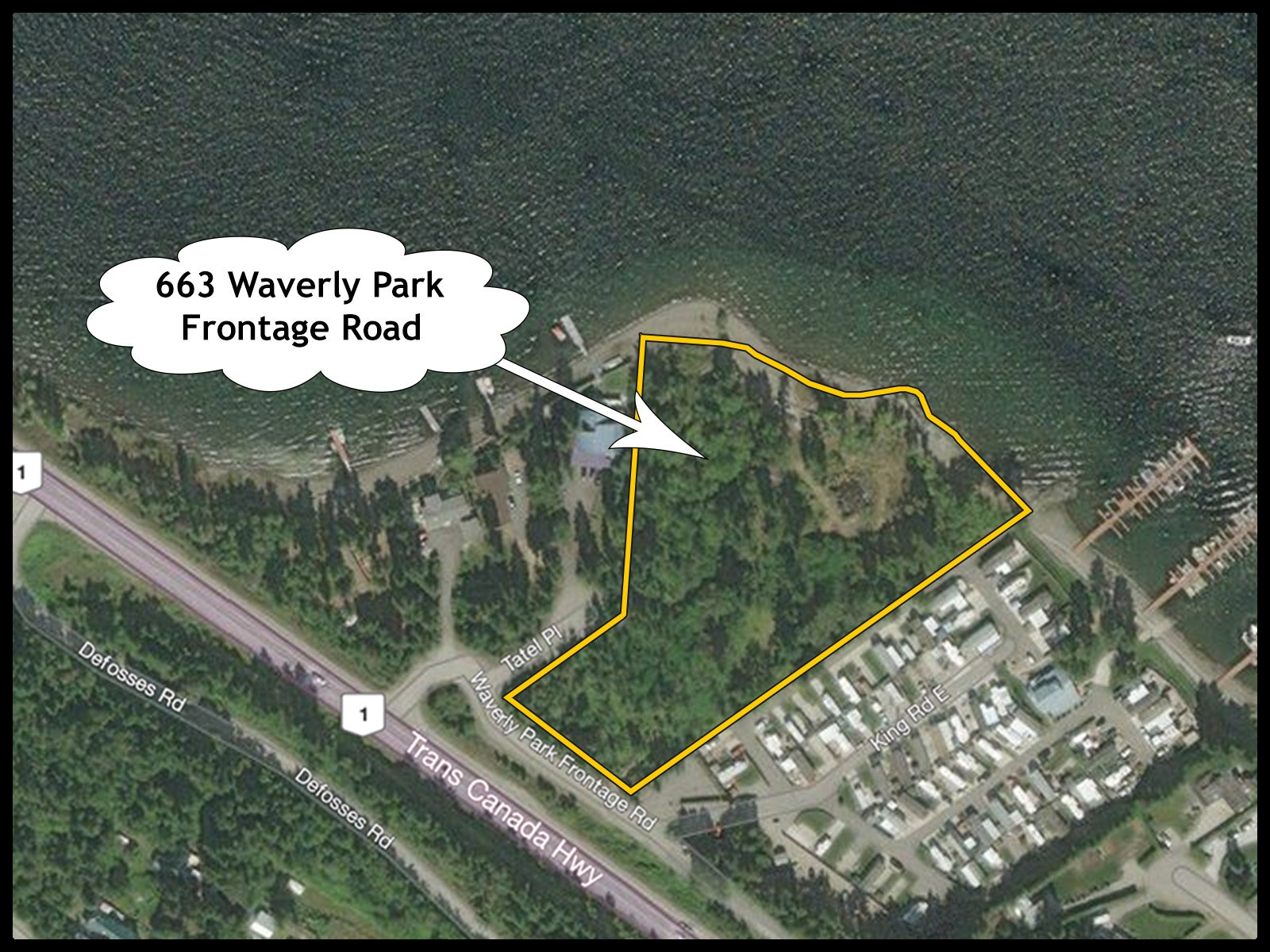 Photo 2: Photos: 663 Waverly Park Frontage Road in Sorrento, BC: Land Only for sale (Sorrento)  : MLS®# 10186241