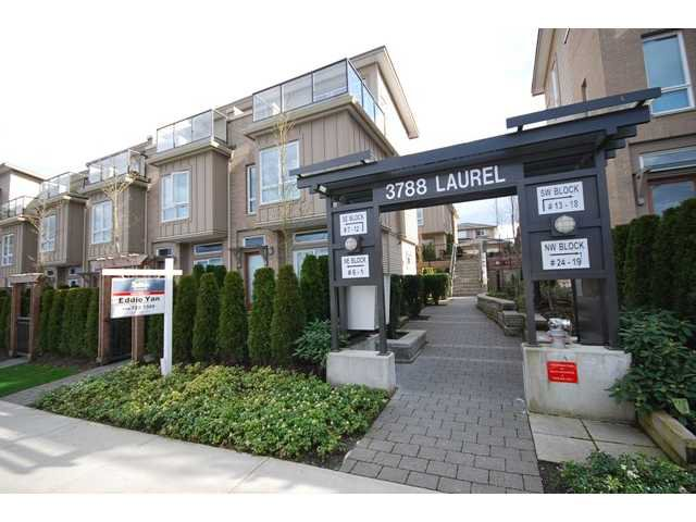 Main Photo: 1 3788 LAUREL Street in Burnaby: Burnaby Hospital Townhouse for sale (Burnaby South)  : MLS®# V960525