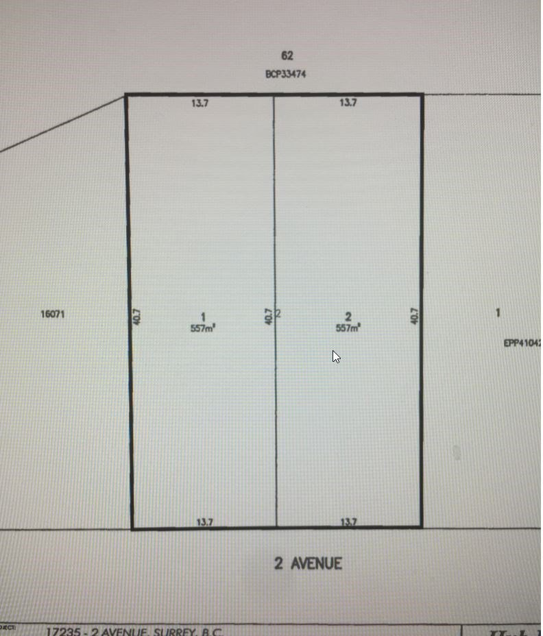 Main Photo: Lot 2- 17235 2 Avenue in Surrey: Pacific Douglas Land for sale (South Surrey White Rock)  : MLS®# R2142331