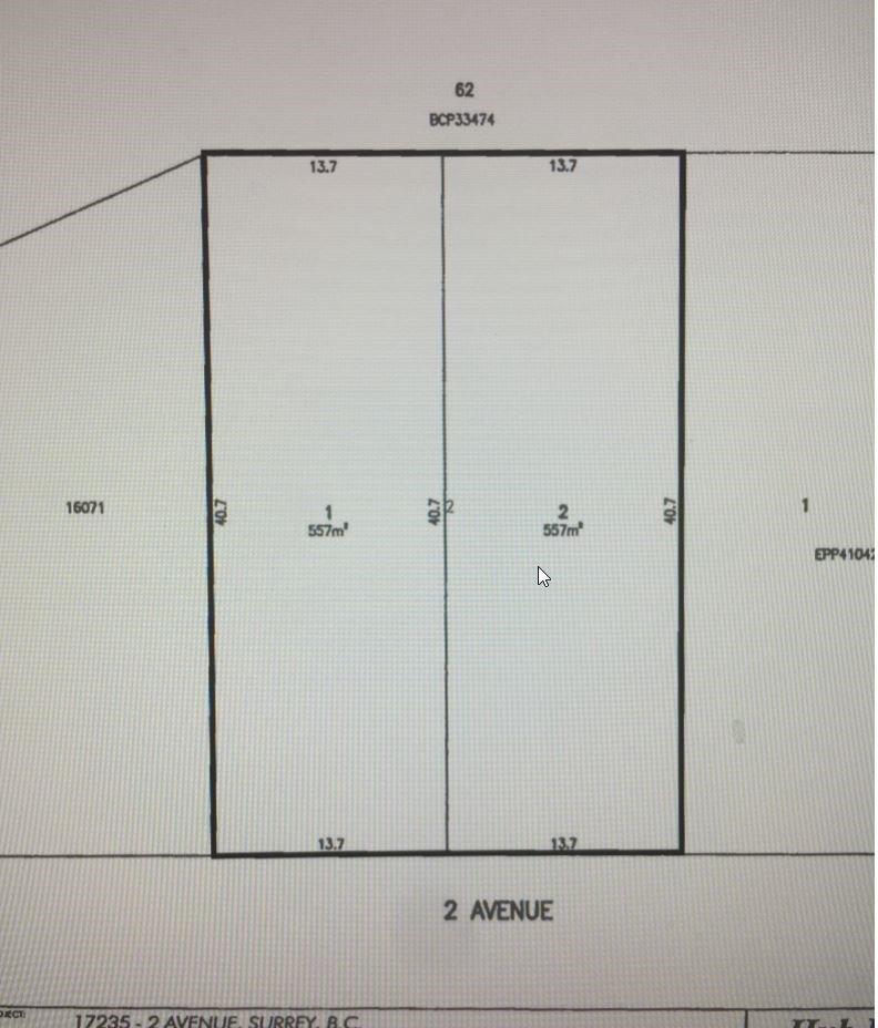 Photo 1: Photos: Lot 2- 17235 2 Avenue in Surrey: Pacific Douglas Land for sale (South Surrey White Rock)  : MLS®# R2142331
