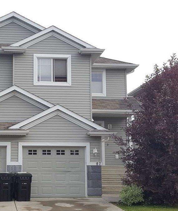 Main Photo: 87 KEYSTONE Crescent: Leduc House Half Duplex for sale : MLS®# E4207156