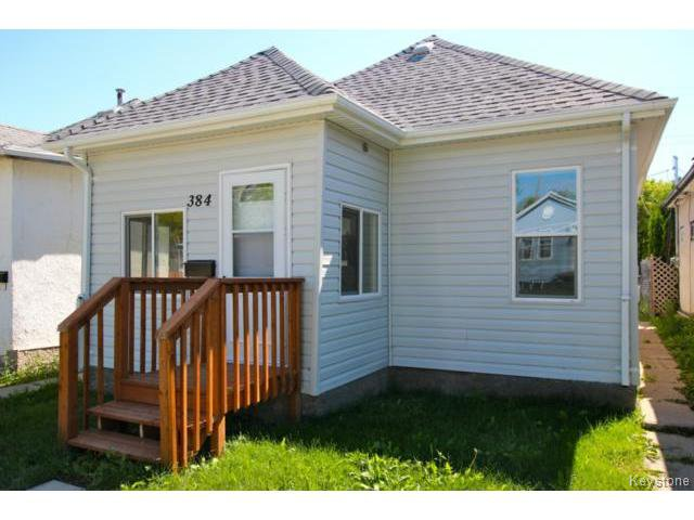 Main Photo: 384 Jamison Avenue in WINNIPEG: East Kildonan Residential for sale (North East Winnipeg)  : MLS®# 1418294