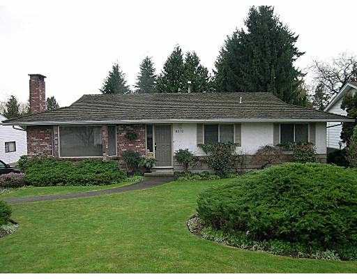 """Main Photo: 8312 MANSON DR in Burnaby: Government Road House for sale in """"LAKEDALE"""" (Burnaby North)  : MLS®# V574601"""