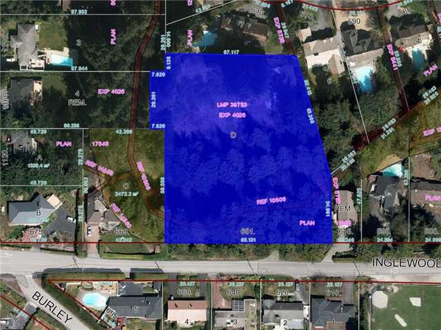 "Main Photo: 651 INGLEWOOD Avenue in West Vancouver: Cedardale Land for sale in ""CEDARDALE"" : MLS®# V1019564"