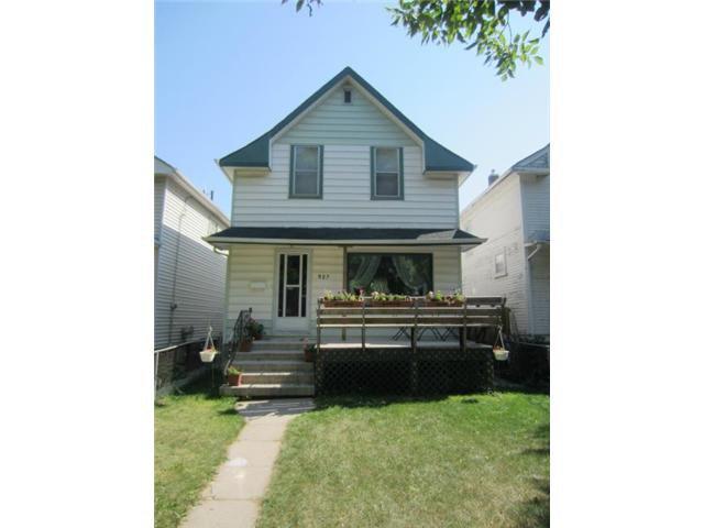 Main Photo: 927 Banning Street in WINNIPEG: West End / Wolseley Residential for sale (West Winnipeg)  : MLS®# 1218050