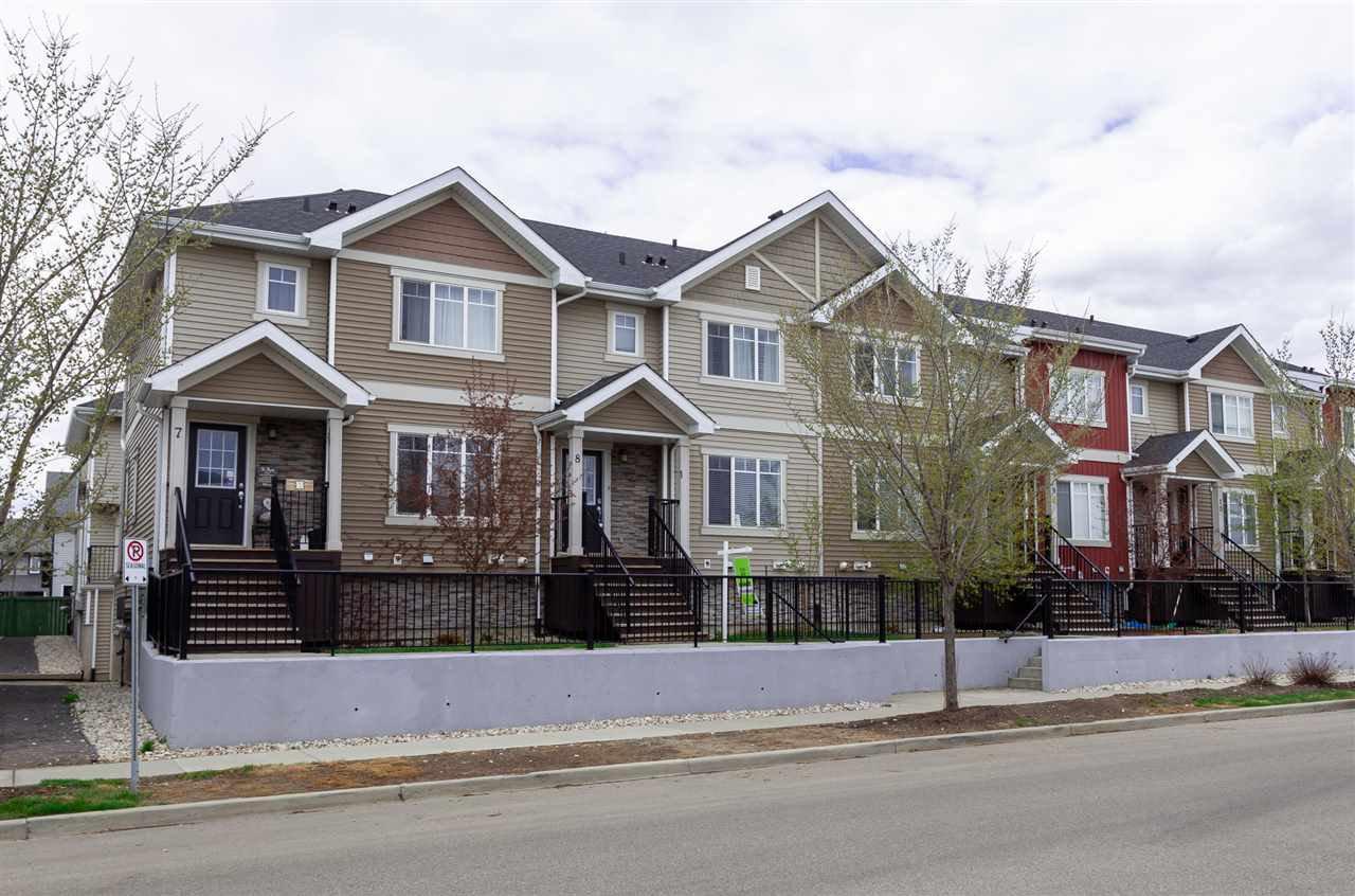 Main Photo: 8 13810 166 Avenue in Edmonton: Zone 27 Townhouse for sale : MLS®# E4192597