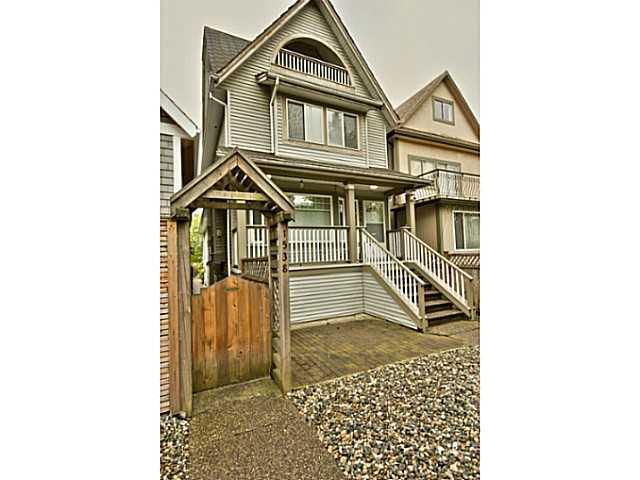 Main Photo: 1538 E 2ND AV in Vancouver: Grandview VE House 1/2 Duplex for sale (Vancouver East)  : MLS®# V1009293