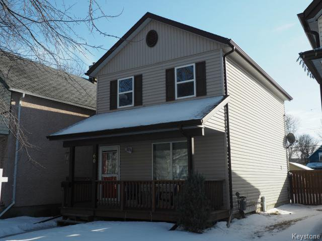 Main Photo: 60 Prince Edward Avenue in Winnipeg: Central Winnipeg Single Family Detached for sale : MLS®# 1502237