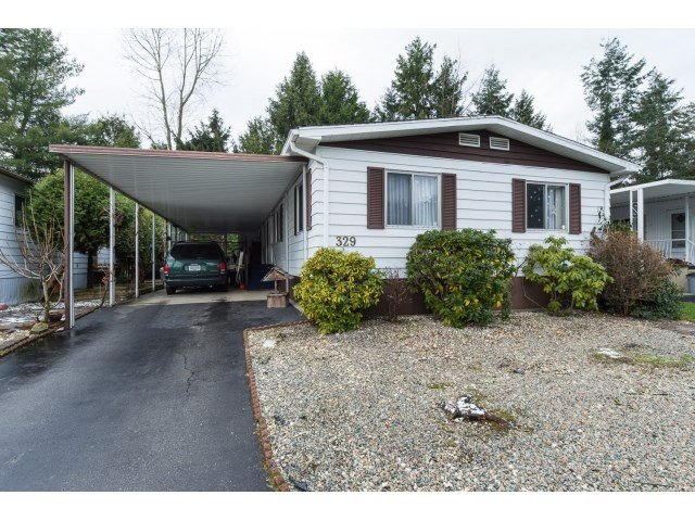 Main Photo: 329 1840 160TH STREET in Surrey: King George Corridor Manufactured Home for sale (South Surrey White Rock)  : MLS®# R2021528