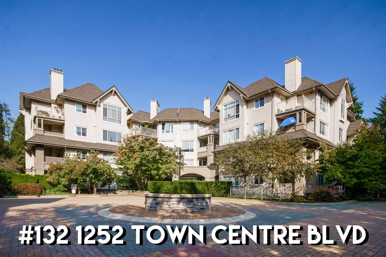 "Main Photo: 132 1252 TOWN CENTRE Boulevard in Coquitlam: Canyon Springs Condo for sale in ""THE KENNEDY"" : MLS®# R2507713"
