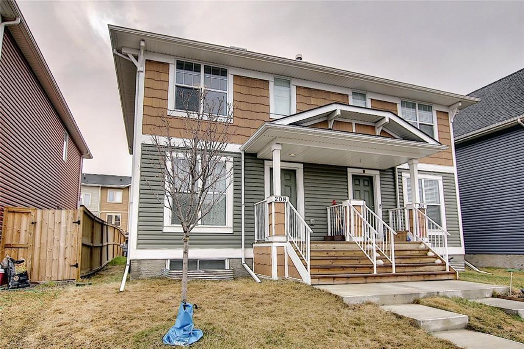 Main Photo: 208 AUBURN MEADOWS Boulevard SE in Calgary: Auburn Bay Semi Detached for sale : MLS®# C4295502
