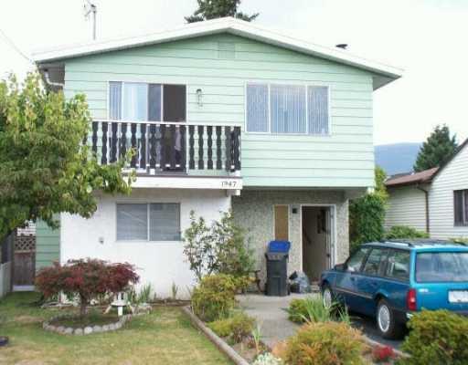 Main Photo: 1947 MANNING AV in Port Coquitlam: Glenwood PQ House for sale : MLS®# V609088