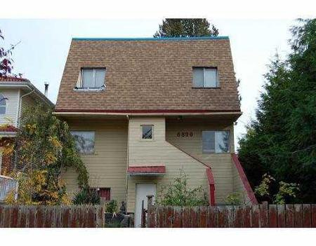 Main Photo: 6890 GLADSTONE ST in Vancouver: House for sale (Killarney VE)  : MLS®# V793173