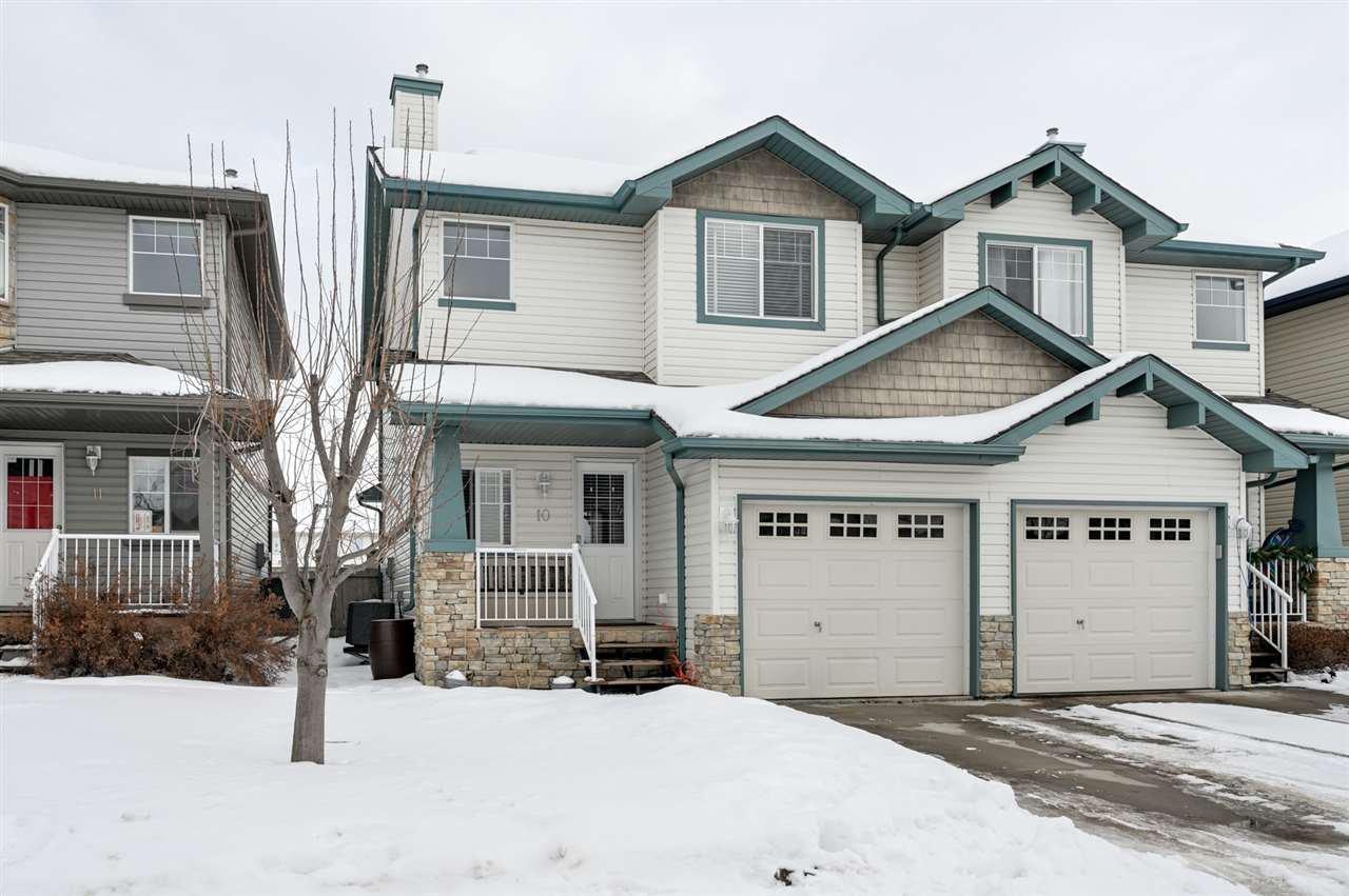 Main Photo: 10 6304 SANDIN Way in Edmonton: Zone 14 House Half Duplex for sale : MLS®# E4186583