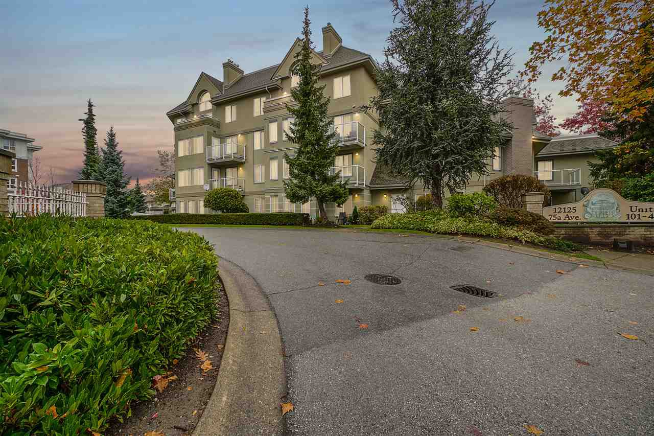 "Main Photo: 206 12125 75A Avenue in Surrey: West Newton Condo for sale in ""Strawberry Hill Estates"" : MLS®# R2517425"
