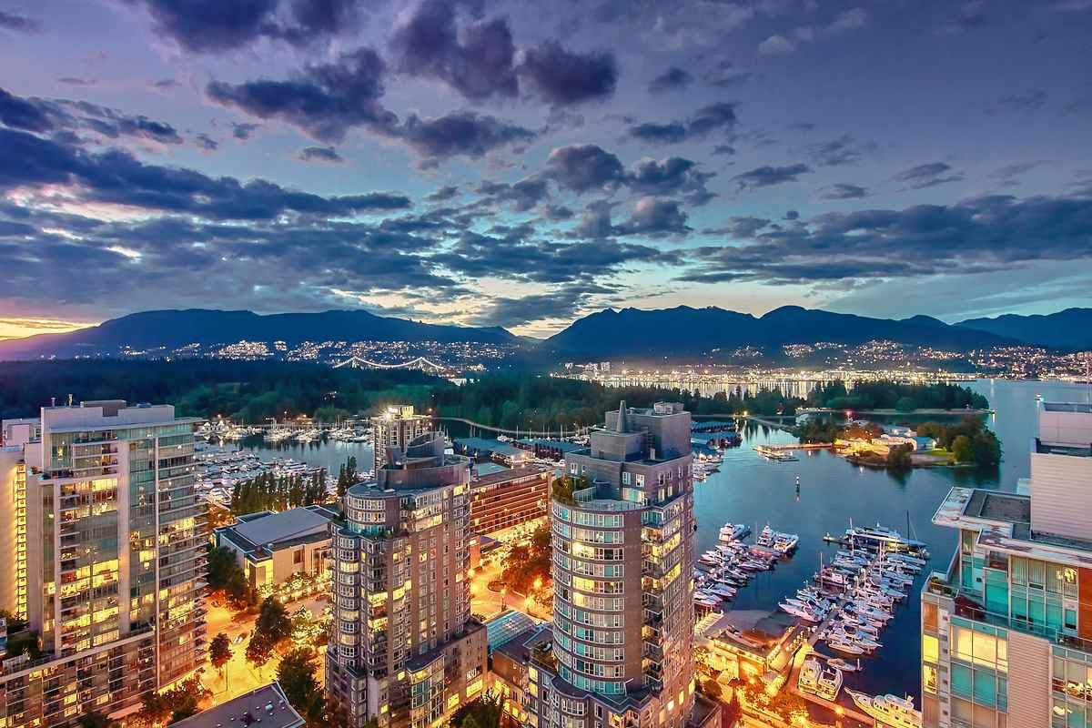 Main Photo: 2802 1499 W Pender St. Vancouver,温哥华市中心,Coal Harbour, large condo,大户型公寓