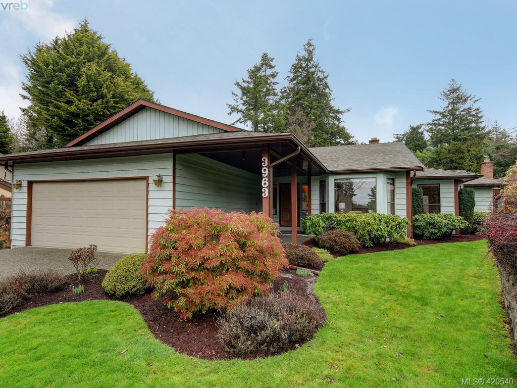 Main Photo: 3963 Burchett Place in VICTORIA: SE Queenswood Single Family Detached for sale (Saanich East)  : MLS®# 420540