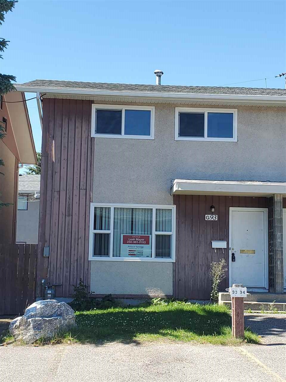 """Main Photo: G93 1900 STRATHCONA Avenue in Prince George: VLA Townhouse for sale in """"ALPINE VILLAGE"""" (PG City Central (Zone 72))  : MLS®# R2481964"""