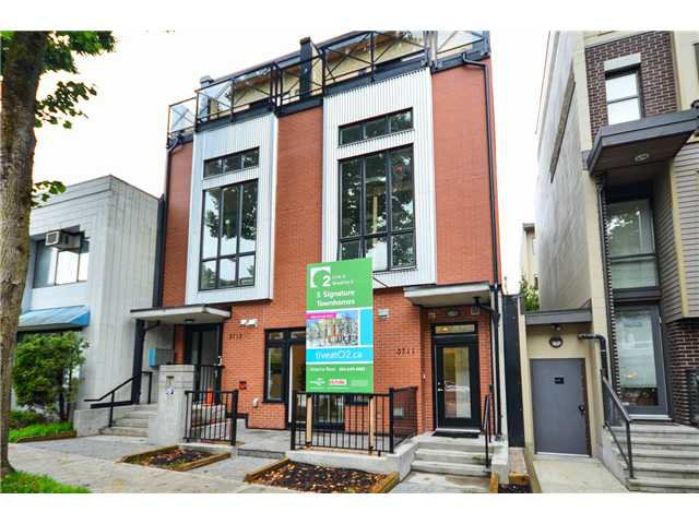 "Main Photo: 3711 COMMERCIAL Street in Vancouver: Victoria VE Townhouse for sale in ""O2"" (Vancouver East)  : MLS®# V1025256"