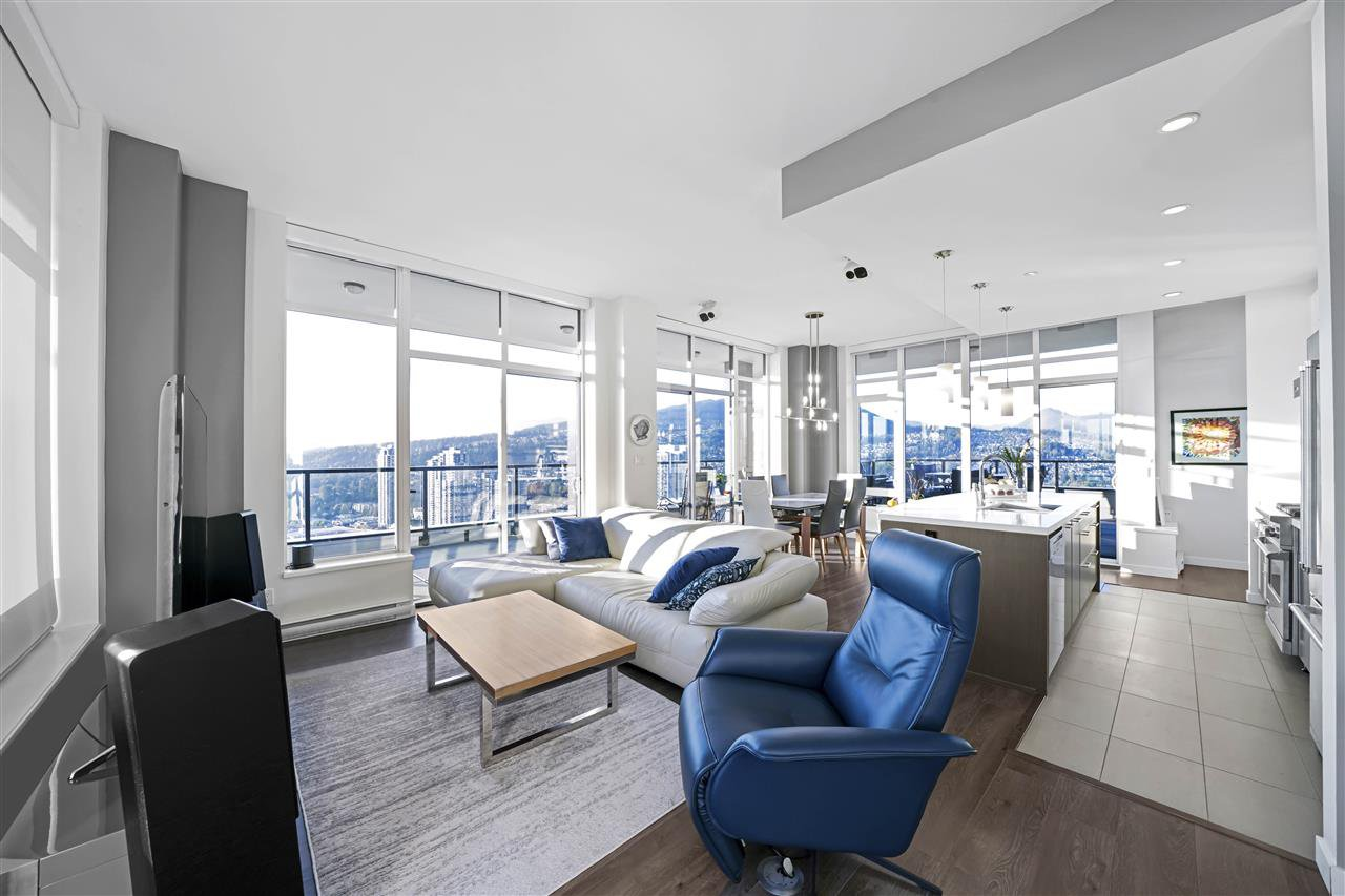 You walk right into an open floor plan with amazing views.