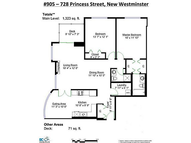 Photo 2: Photos: # 905 728 PRINCESS ST in New Westminster: Uptown NW Condo for sale : MLS®# V1138566