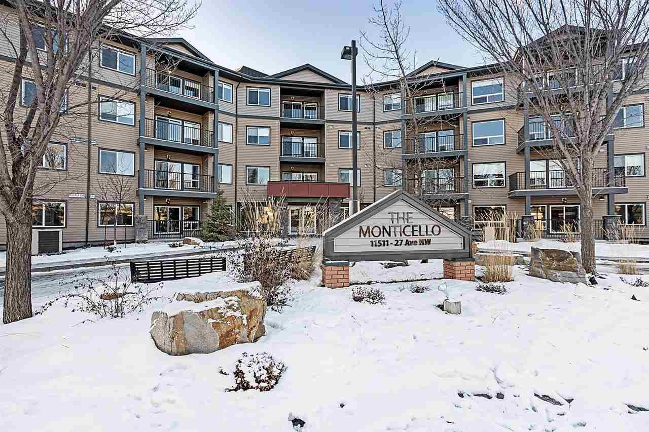 Main Photo: 315 11511 27 Avenue in Edmonton: Zone 16 Condo for sale : MLS®# E4181036