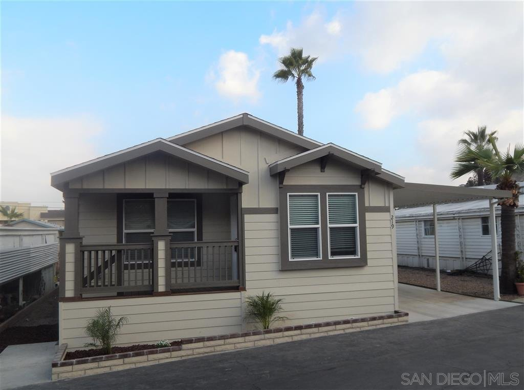 Main Photo: SANTEE Manufactured Home for sale : 2 bedrooms : 8545 Mission Gorge Rd #219