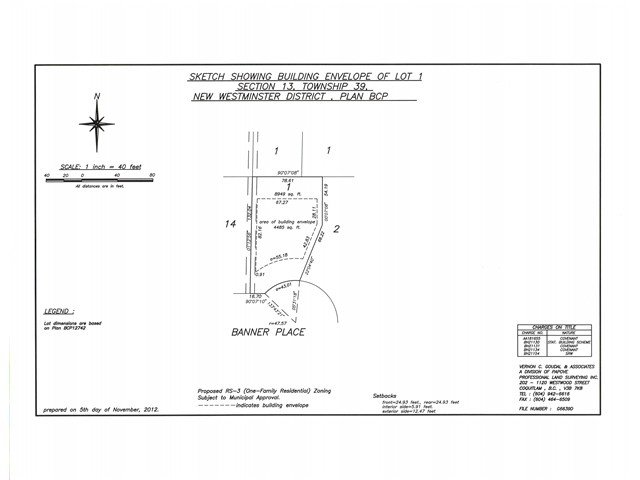 Main Photo: LOT 1 3331 BANNER Place in Coquitlam: Hockaday Land for sale : MLS®# V993995