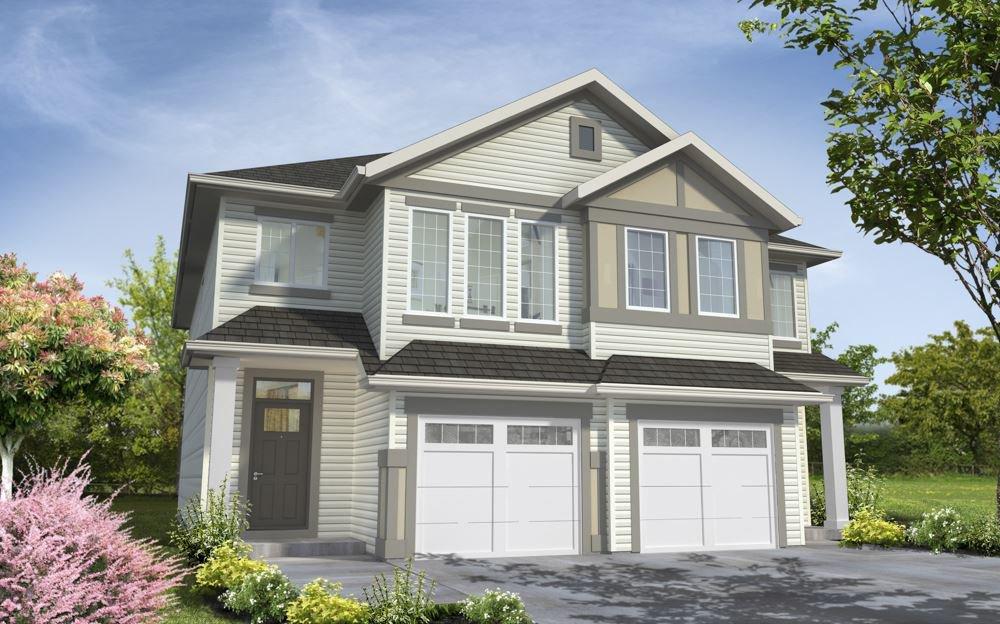 Main Photo: 7268 EDGEMONT Way in Edmonton: Zone 57 House Half Duplex for sale : MLS®# E4172630