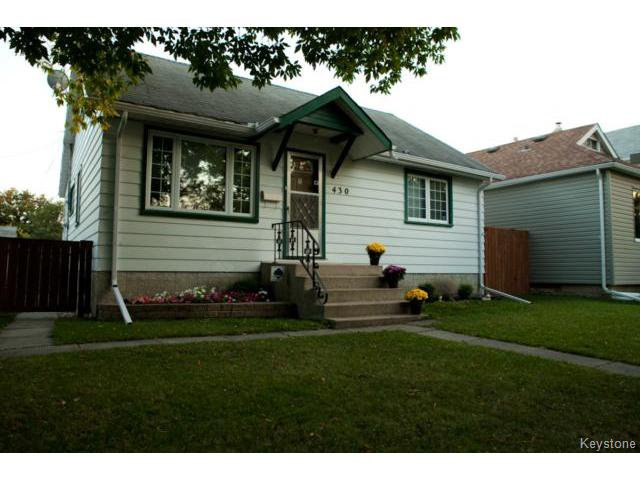 Main Photo: 430 Edgewood Street in WINNIPEG: St Boniface Residential for sale (South East Winnipeg)  : MLS®# 1318062